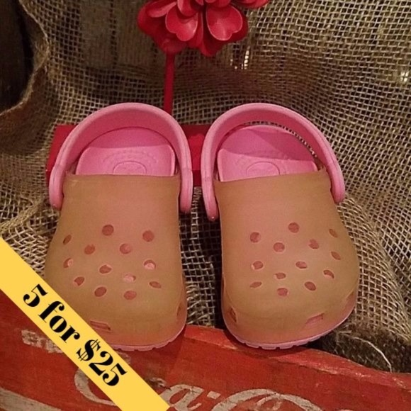303dc2b1a CROCS Other -   Baby CROCS Pink   Clear - Size 4 5
